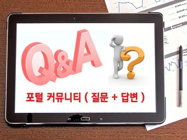 대표포털 질문&답변(Q&A) 서비스 해 드립니다