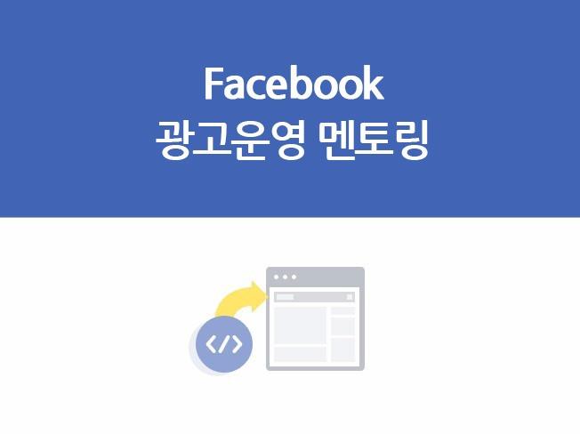 [페이스북 광고] 실무자 또는 대표님이 직접 운영하실 수 있도록 멘토링해 드립니다