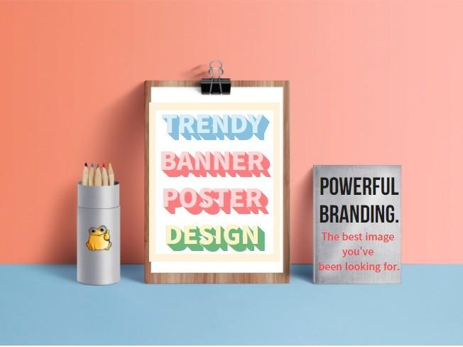 트렌디한 온오프라인용 광고배너, 포스터,카페배너 제작 드립니다.