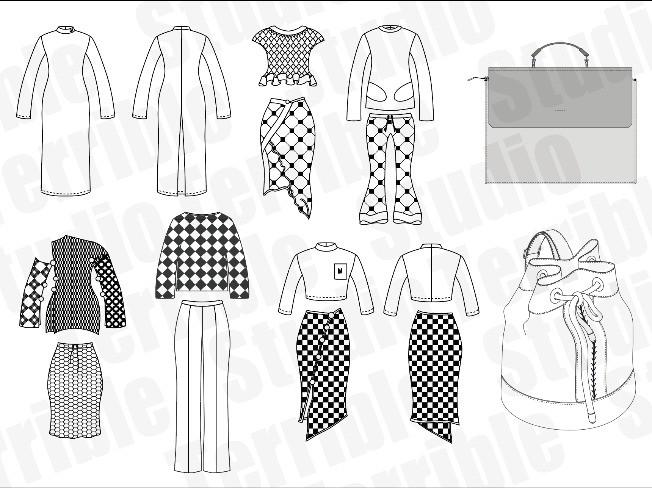 의류, 가방,패션 잡화 디자인 도식화서를 도와 드립니다