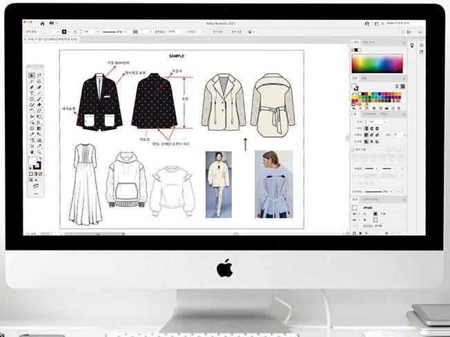 디자이너 필수 패션 도식화 완벽하게 실무용어 까지 드립니다.