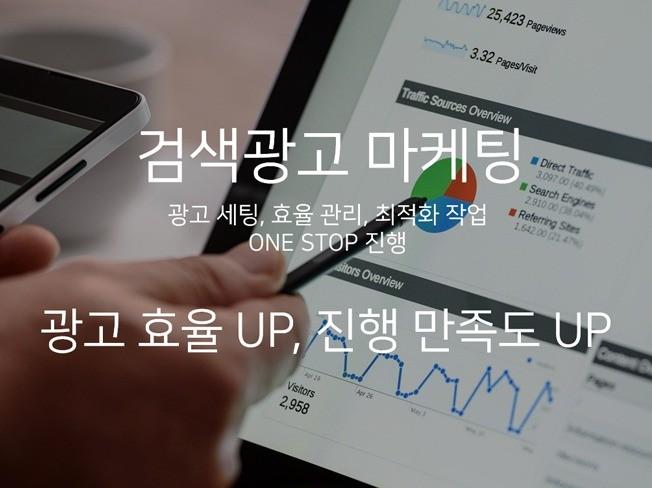 키워드 검색광고 광고 효율 올려 드립니다.