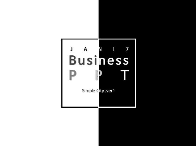 비즈니스 프로젝트용으로 알맞은 심플한 PPT 템플릿 드립니다.