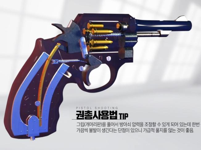 권총 사용법 3D로 제작해 드립니다.