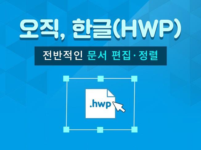 한글(.hwp) 문서 편집해 드립니다