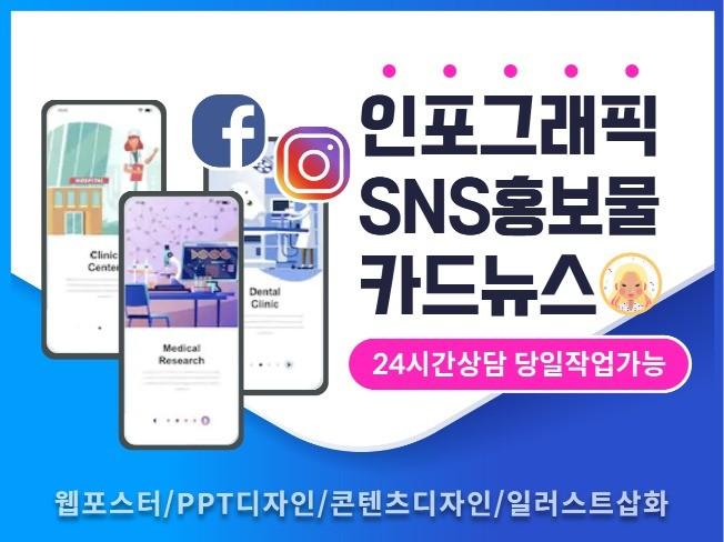 인스타그램 페이스북 SNS 콘텐츠 카드뉴스디자인 광고배너 제작해 드립니다.