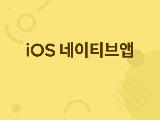 간단한 iOS 네이티브 앱 개발해 드립니다.