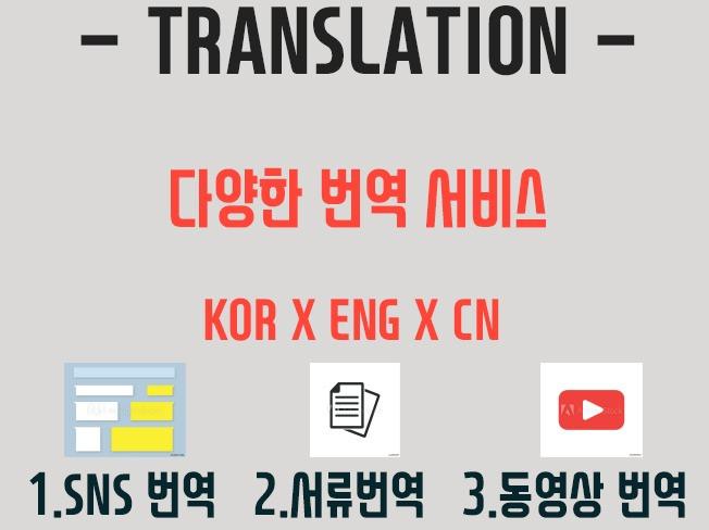 빠르고 정확한 중국어 서류 번역을 제공 드립니다
