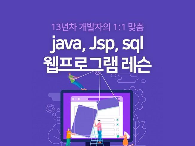 1:1 맞춤형 java jsp 웹프로그램 레슨 해 드립니다