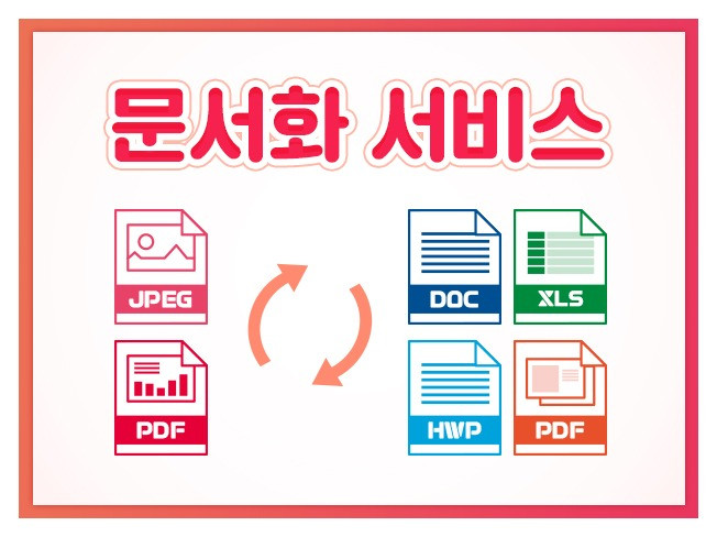PDF, 그림파일  등을 편집가능한 파일 한글, 워드 등 로 변환 해 드립니다.