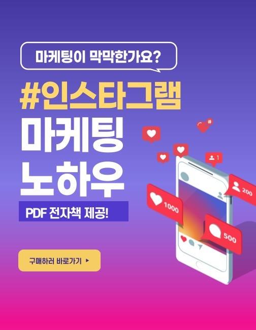 인스타그램 마케팅 광고 홍보 핵심노하우 소책자 및 레슨