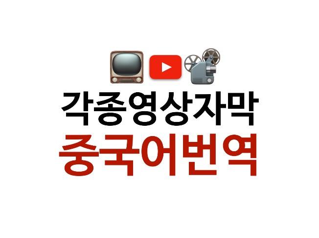 중국드라마, 유투브, 각종광고 영상을 번역 해 드립니다