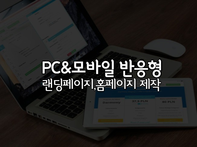 모바일,PC 반응형 랜딩페이지,홈페이지 야무지게 만들어 드립니다.