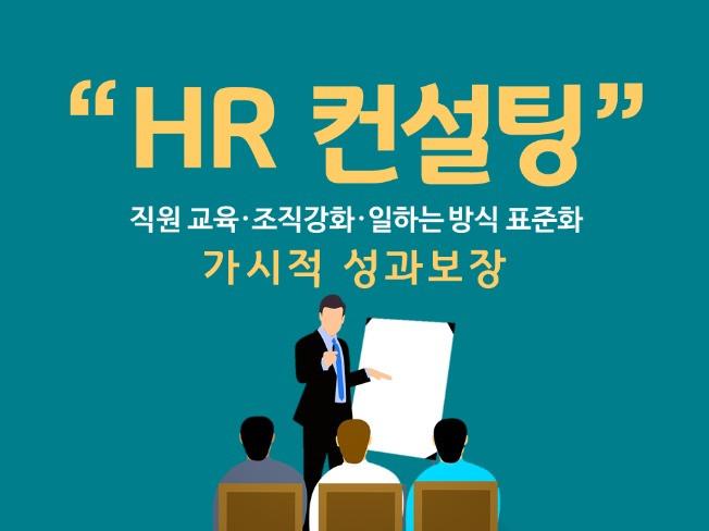 직원 교육/조직 강화/일하는 방식 표준화/ 가시적 성과 보장 HR 컨설팅 해 드립니다