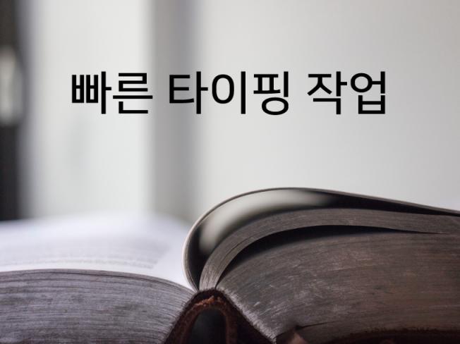문서,동영상자막,타이핑 작성해 드립니다.