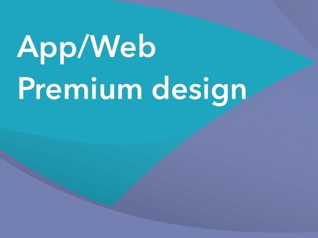 프리미엄 App Web 디자인 작업해 드립니다