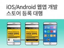 아이폰/안드로이드 웹앱 개발에서 스토어 등록까지 한번에 해드립니다.