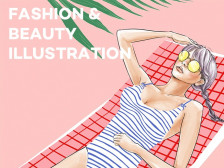 패션 일러스트, 핸드 드로잉, 디지털 페인팅 작업해드립니다.