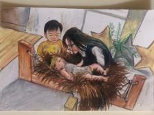 여러분의 추억을 어린이 크레파스로 그려드립니다.