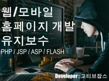PHP/JSP/홈페이지 유지보수 해드립니다.