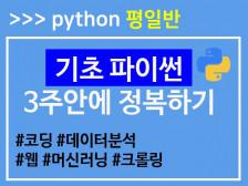 [평일반] 원하는 프로그램을 만들기 위한 기초 파이썬 수업드립니다.