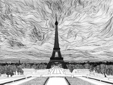 건축, 풍경, 라인드로잉, 일러스트, 흑백, 컬러, 투시도, 손그림 그려드립니다.
