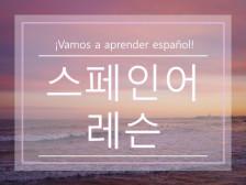 학생의 수준과 목적에 따른 스페인어 강의를 해드립니다.