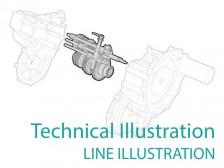 일러스트레이션([technical illustration) 깔끔하게 그려드립니다.