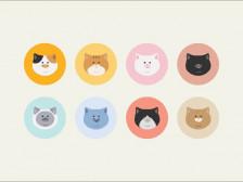 [미니미냥] 귀염뽀짝한 고양이 캐리커쳐 그려드립니다.