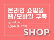 [추가비용NO!] 온라인 쇼핑몰 제작해드립니다.