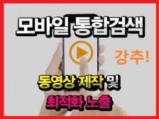 모바일통합검색영역 동영상 최적화 노출해드립니다.