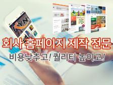 회사홈페이지(웹/모바일/반응형) 전문으로 제작해드립니다.
