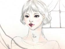 손그림 감성 일러스트, 수채화,  감성 로고, 손그림 분위기있게 디자인해드립니다.