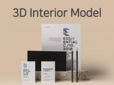 인테리어 3D 모델링, 투시도, 아이소 빠르게 해드립니다.