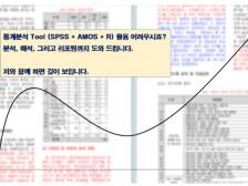 논문 작성을 위한 통계분석 (SPSS, AMOS, R)드립니다.