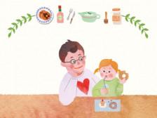포스터/표지/아기자기수채화빛 감성 그림 그려드립니다.
