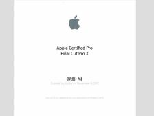 파이널컷(Finalcut Pro X) 강의해드립니다.