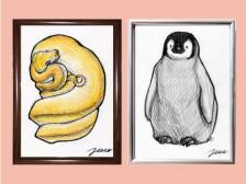 [손그림] 선물, 프로필,인테리어 등으로 좋은 사랑스러운 반려동물 & 모든 동물을 그려드립니다.