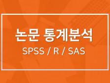 통계전공자가 논문 통계분석(SPSS, R, SAS)을 해결해드립니다.