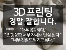 100건 이상 제작 3D모델링&3D프린팅 신뢰로 제작해드립니다.