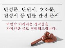 반성문, 탄원서, 진정서 등 법률 관련 문서 작성을 도와드립니다.