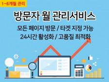 [카페,블로그,사이트] 고가치 방문자(트래픽) 서비스를드립니다.