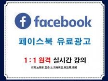 페이스북 유료광고 방법 코칭해드립니다.
