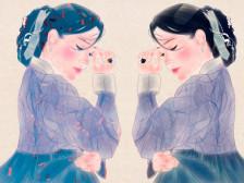 한국화풍의 하이퀄리티 초상화를 만들어드립니다.