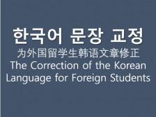 """""""외국인 유학생""""의 한국어 문장을 완벽하게 고쳐드립니다."""