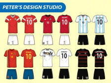 스포츠 의류 / 유니폼 일러스트 도식화 디자인 작업해드립니다.