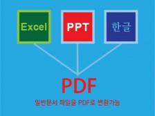 일반문서파일을 PDF로 변환해드립니다.
