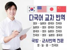 다국어 번역 및 군사 전문 영한번역해드립니다.