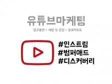 유튜브 인스트림/범퍼애드/디스커버리 광고 진행해드립니다.