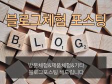 블로그체험단 블로그 포스팅 해드립니다.